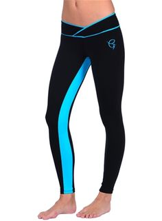 Equilibrium Active Wear Blue Stripe Legging
