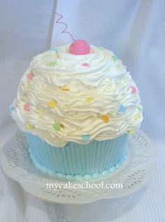 Giant Cupcake Deco Idea Big Cakes Birthday Cake