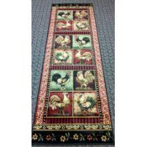 Country Rooster Rug I love the variety of roosters for a rooster themed kitchen! Red Rooster, Rooster Rug, Rooster Kitchen, Roosters, Cheap Large Area Rugs, Trendy Colors, Vivid Colors, Country Rugs, Kitchen Themes