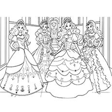top 50 free printable barbie coloring pages online | barbie ... - Barbie Friends Coloring Pages