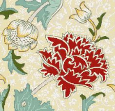 Chrysanthemum by WIlliam Morris counted cross stitch kit  ##