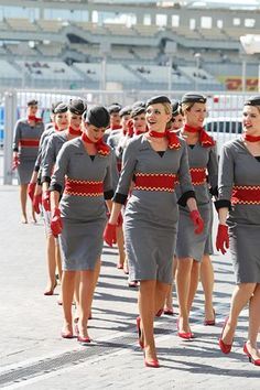Etihad Flight Attendants - F1  Grand Prix