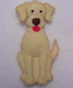 "3"" Felt Dog Ornament."
