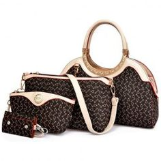 Stylish Women's Tote Bag With Rhinestones and Printed Design (COFFEE)   Sammydress.com Mobile