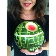 May The 4th Be With You! Happy Star Wars Day! The Force will definitely be with your watermelon, if you carve it into a Death Star! Hopefully your son won't blow it up soon after...
