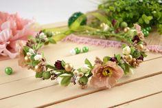 Bridal Floral Crown Wedding flower crown by OlgasCreativeStudio