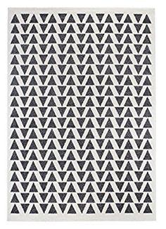 misento 799055 Web Isos Geometric Pattern Dreicek Design Modern Short Pile Rug, Polypropylene, Cream/Grey, 67 x 140 x 1.5 cm: Amazon.co.uk: Kitchen & Home