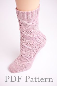Knitting Pattern Grecian Goddess Socks by ShopYarnLove on Etsy