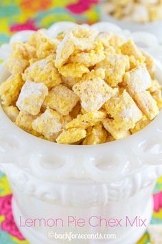 Lemon Pie Muddy Buddies - Oh My Word! SO Addicting!!!