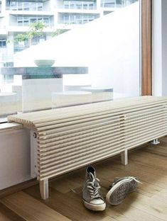 cache radiateur – … – - Decoration For Home Living Room Decor Furniture, Diy Furniture, Furniture Design, Diy Radiator Cover, Interior Architecture, Interior Design, Small Hallways, Radiators, Home Projects