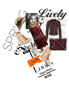 """""""Red Dress"""" by adisa-hadzic4 ❤ liked on Polyvore featuring MML, Eric Javits, Jeffrey Campbell, The Cambridge Satchel Company, Miss Selfridge and Sheinside"""