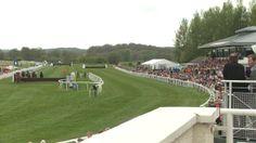 Racing at Perth Racecourse. Horse racing at Perth Racecourse, Scotland.