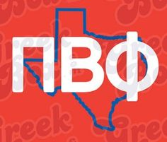 Pi Phi + Texas. Would be cute with any state outline! #piphi #pibetaphi