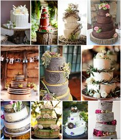 Rustic Themed Wedding Cakes | So here is today's moodboard containing some of the images that ...