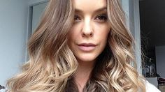 The gorgeous Becky Lamb sporting a Blow Dry Bar Signature Blow Dry