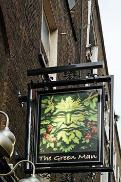 Pub Sign, The Green Man,  Soho, London