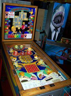 "1959 Cross World ""Williams "" Pinball Machine Flipper Pinball, Pinball Games, Pinball Wizard, Arcade Games, Garden City Beach, Skee Ball, Penny Arcade, Retro Images, Baseball Games"