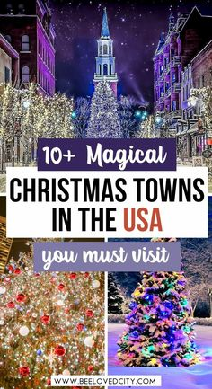 Discover the best Christmas destinations in the United States. Perfect for a festive getaway! Christmas towns USA   Christmas towns in America   American christmas towns   Christmas vacation USA   Places to visit in winter in USA   Places to visit at Christmas in USA   Places to visit in USA in december   Christmas holidays USA