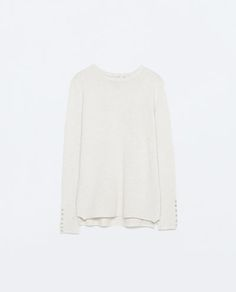 Image 6 of RAYON SWEATER WITH BUTTONED CUFF from Zara
