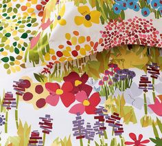 paint chips turned into garden picture for a duvet cover, perfect!!