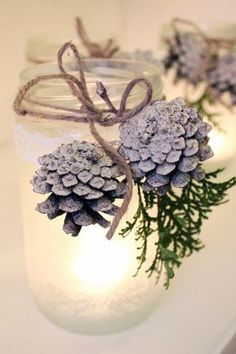 Bara Det Ljuvligaste – Christmas Candle Jar DIY Bara Det Ljuvligaste – Christmas Candle Jar DIY This image has get. Christmas Candle Decorations, Christmas Candles, Rustic Christmas, White Christmas, Christmas Home, Christmas Holidays, Christmas Crafts, Scandinavian Christmas, Homemade Christmas