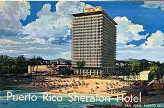 Hotel Sheraton, Condado, Puerto Rico 1950's rendering, Toro & Ferrer architects