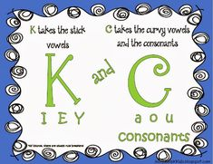 K and C rule poster - freebie!! Would love your feedback. Incredible K Kids …
