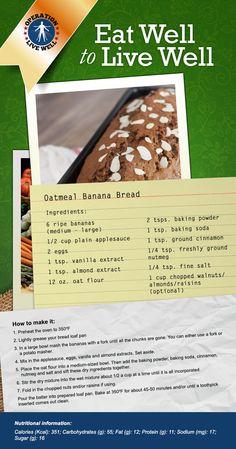 Oatmeal banana bread! #yum #OLW