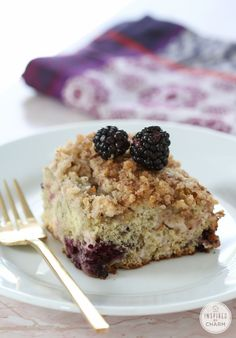 Blackberry Rhubarb Cake