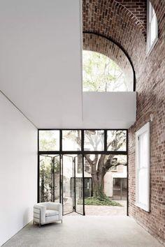 window + brick