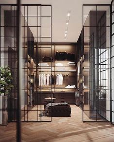 Luxury Closet Design & High End Closet Systems Walk In Closet Design, Bedroom Closet Design, Closet Designs, Master Bedroom, Master Closet, Walking Closet Ideas, Garderobe Design, Dressing Room Design, Luxury Closet