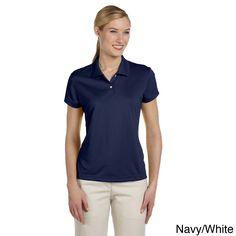 5270e474982 Adidas Women's ClimaLite Short Sleeve Pique Polo Shirt Polo Design, Tennis  Shirts, Ladies Golf