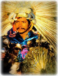 """Modern Aztec """"warrior of light"""""""