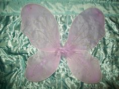Lavender Butterfly Fairy Angel Wings, Elastic Arm Straps Glitter & Feathers