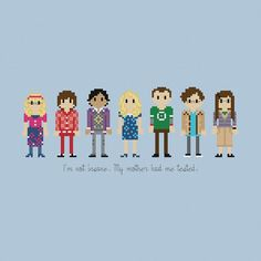 Pixels In Stitches : The Big Bang Theory