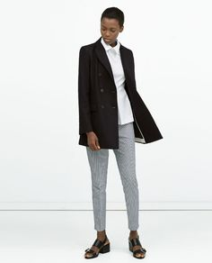 ZARA - SALE AW.14 - BUTTONED DOUBLE-BREASTED COAT