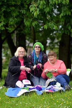'Knitting ninjas' gave a well-known statue a colourful new look (From Bradford Telegraph and Argus)