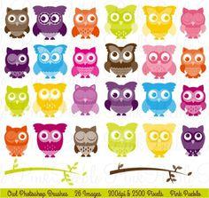 Cute Owl Photoshop Brushes. Brushes
