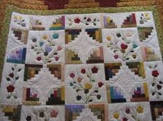 colchas de patchwork log cabin