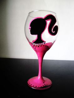 Barbie Wine Glass