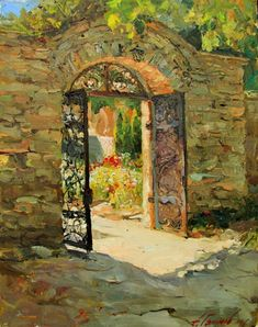 Personal site of artist Azat Galimov. Bulgaria, Gate, Arch, Outdoor Structures, Artwork, Artist, Painting, Windows, Doors