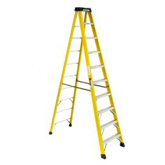 WERNER 10FT IA Fiberglass Step Portable Ladder, Above Ground Pool Ladders, Adjustable Ladder, Folding Ladder, Tool Organization, Tools And Equipment, In Ground Pools, Home Improvement, Zapatos