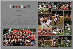 Sports page layout. Yearbook Sports Spreads, Yearbook Staff, Yearbook Pages, Yearbook Covers, Yearbook Theme, Yearbook Design Layout, Yearbook Layouts, Yearbook Ideas, Layout Design