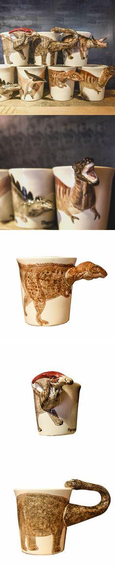 Handmade cute coffee milk mug animal Dinosaur Tyrannosaurus 3d Funny Birthday Gift Gift for kids Holiday Gift Christmas Gift