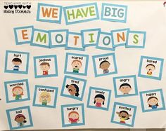 Big Emotions Anchor Chart to teach about self-control. Discuss handling big emotions and having self-control with your students so that they are able to handle frustration, jealousy, and more. Students need explicit instruction on self-control. #charactereducation #morningmeeting