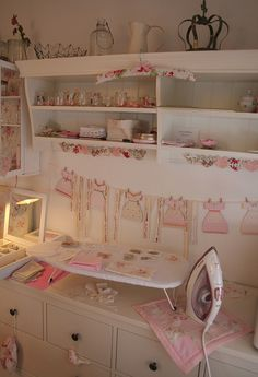 Ironing Station Shabby Chic organized craft room