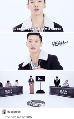 Yongguk, rapper of the century. - BAP