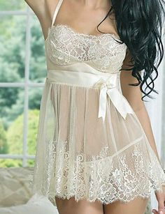 Sexy delicate lingerie for real women. Get this lace night gown at only . discounts to all categories. Delicate Lingerie, Sheer Lingerie, Wedding Lingerie, Babydoll Lingerie, Lingerie Sleepwear, Nightwear, Women Lingerie, Lingerie Dress, Lace Babydoll
