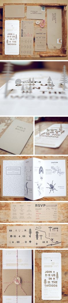 Woodsy wedding invites.  foxinthepine.com | absolute perfection.