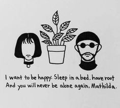 Imagen de quote, leon the professional, and sketch